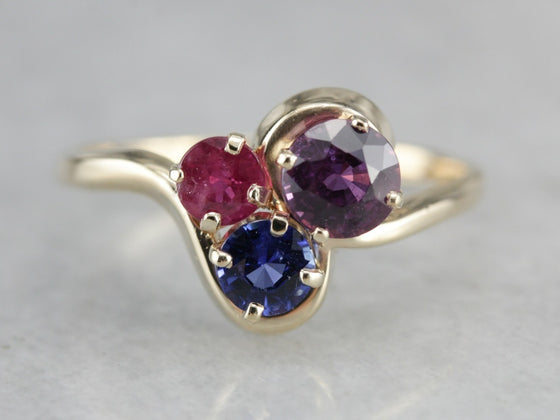 Sapphire and Ruby Multi Stone Ring