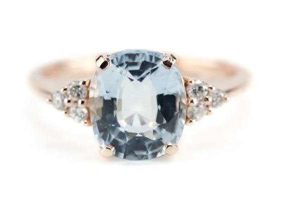 The Elnora Aquamarine and Diamond Ring from The Elizabeth Henry Collection