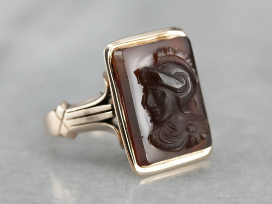 Antique Sardonyx Cameo Ring