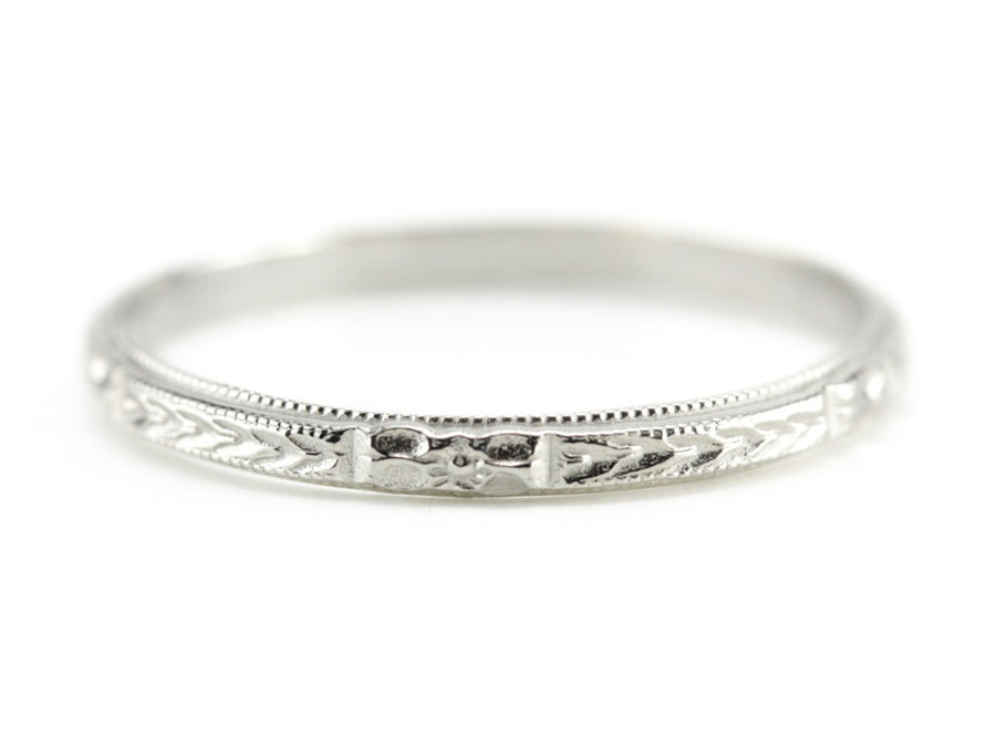 The Mallory Band in 14K White Gold from The Elizabeth Henry Collection