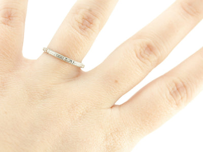 The Mallory 14K White Gold Band by Elizabeth Henry