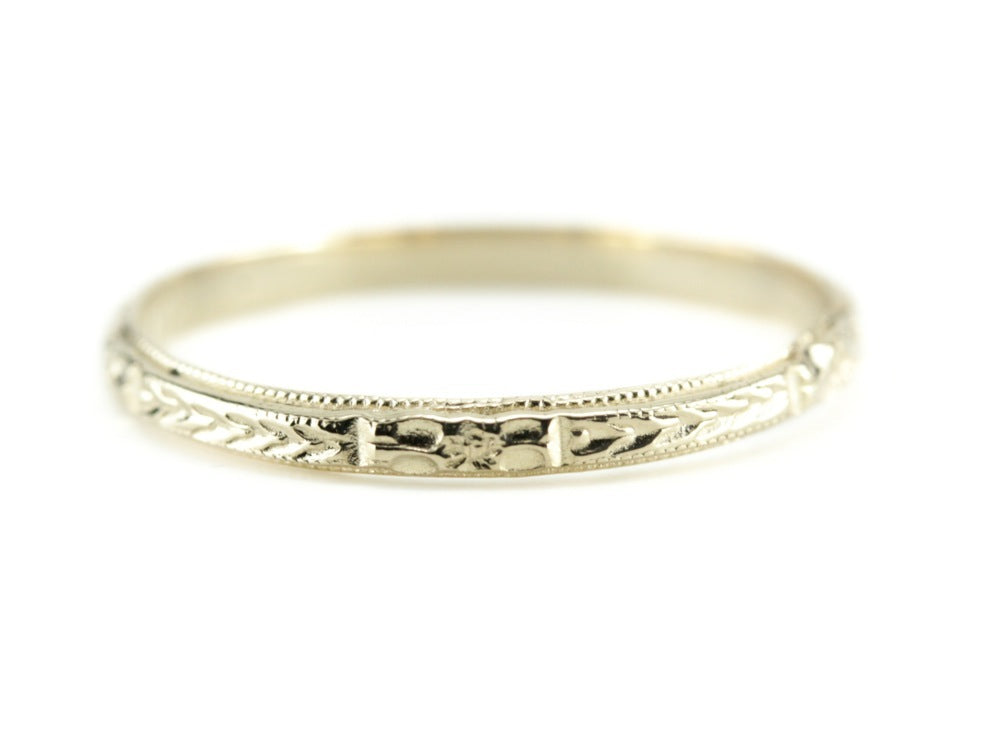 The Mallory Band in 14K Yellow Gold from The Elizabeth Henry Collection