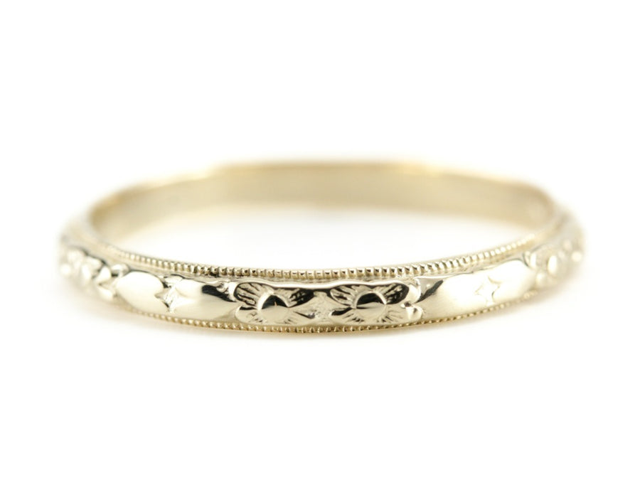 The Marjorie 14K Yellow Gold Band by Elizabeth Henry