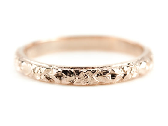 The Lillian Band in 14K Rose Gold from The Elizabeth Henry Collection