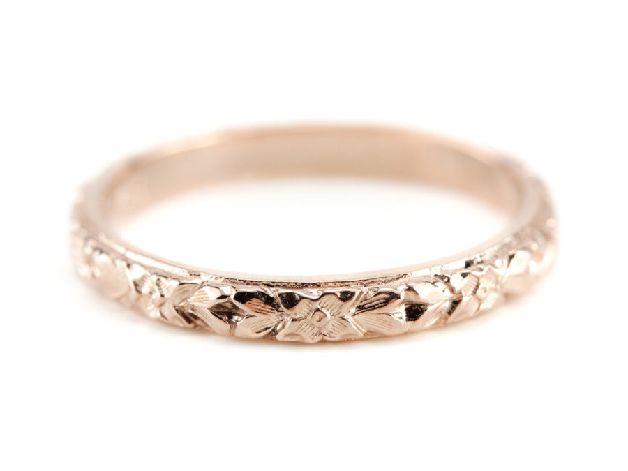 The Lillian 14K Rose Gold Band by Elizabeth Henry