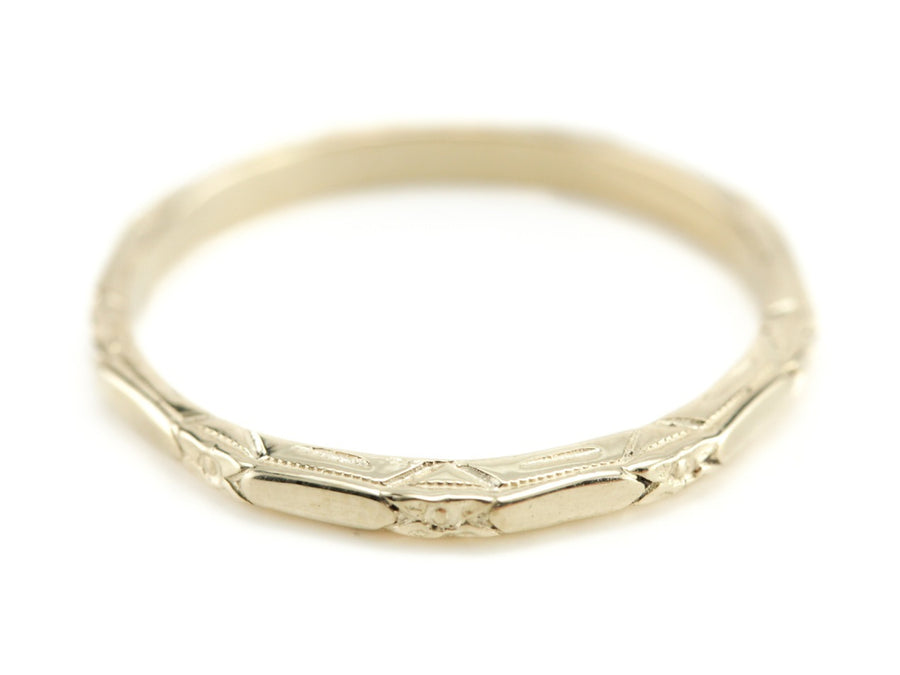 The Amelia 14K Yellow Gold Band from The Elizabeth Henry Collection