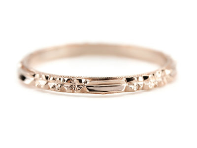 The Rosie 14K Rose Gold Band by Elizabeth Henry