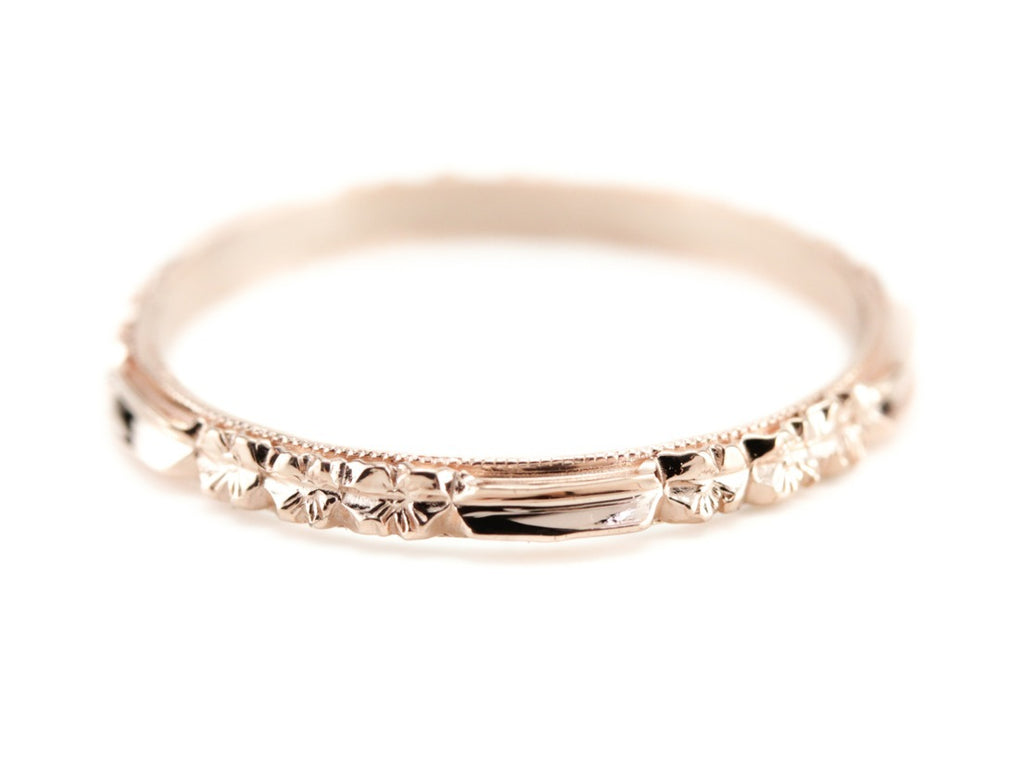 The Rosie Band in 14K Rose Gold from The Elizabeth Henry Collection