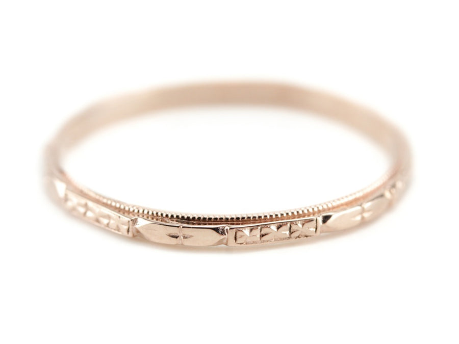 The Cora 14K Rose Gold Band by Elizabeth Henry