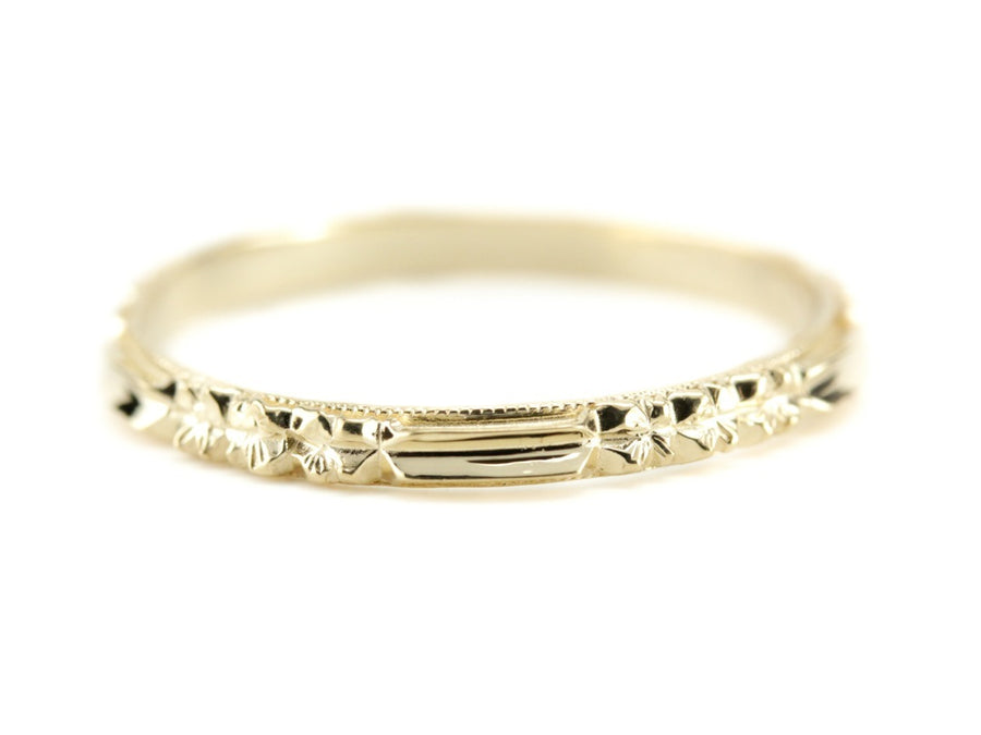 The Rosie 18K Yellow Gold Band by Elizabeth Henry