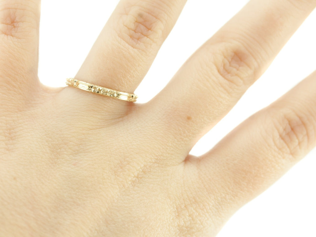 The Rosie Band in 18K Yellow Gold from The Elizabeth Henry Collection
