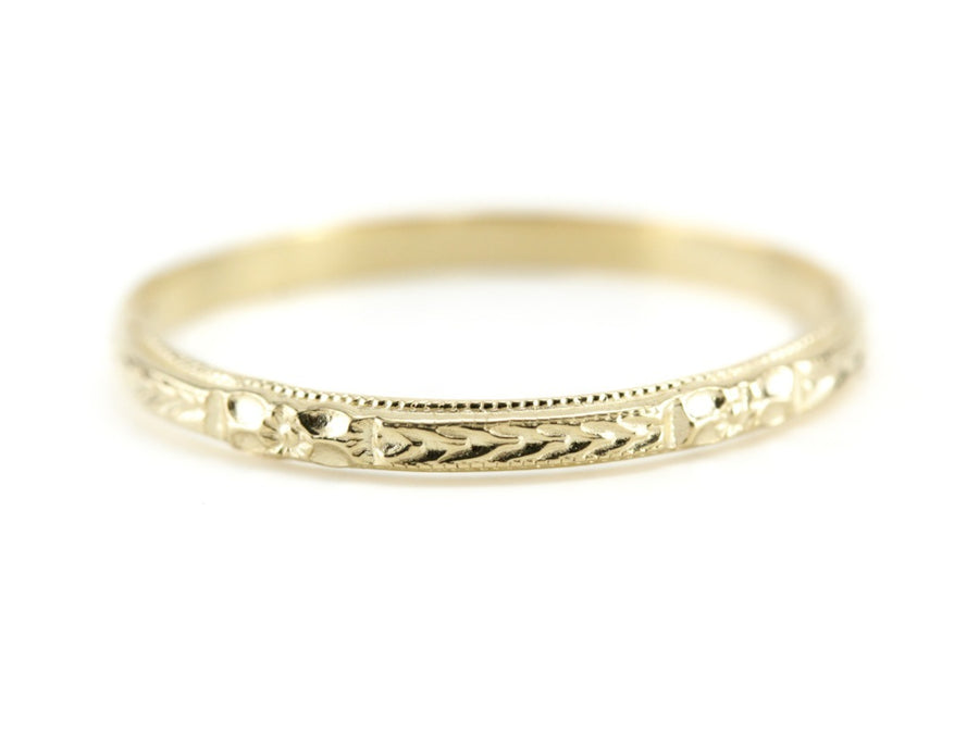 The Mallory Band in 18K Yellow Gold from The Elizabeth Henry Collection
