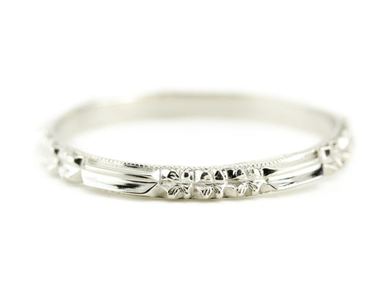 The Rosie Band in 18K White Gold from The Elizabeth Henry Collection