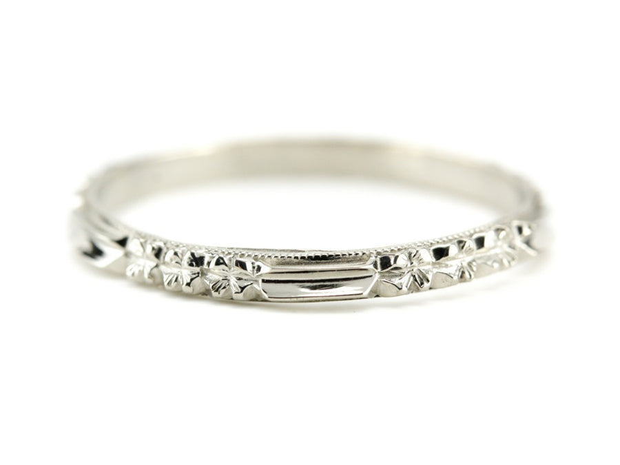 The Rosie 18K White Gold Band by Elizabeth Henry
