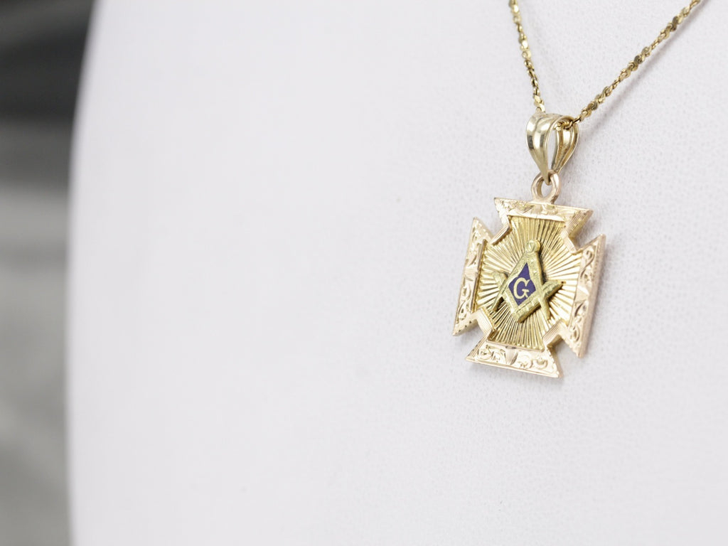 Antique Masonic Pendant