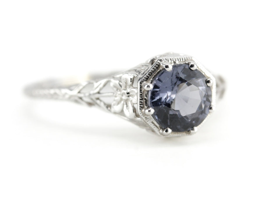 The Sapphire Greenleaf Engagement Ring from The Elizabeth Henry Collection