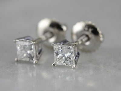 White Gold Diamond Stud Earrings