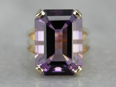Amethyst Cocktail Ring