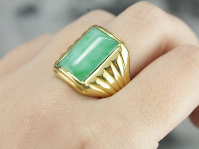 Men's Retro Era Jadeite Ring