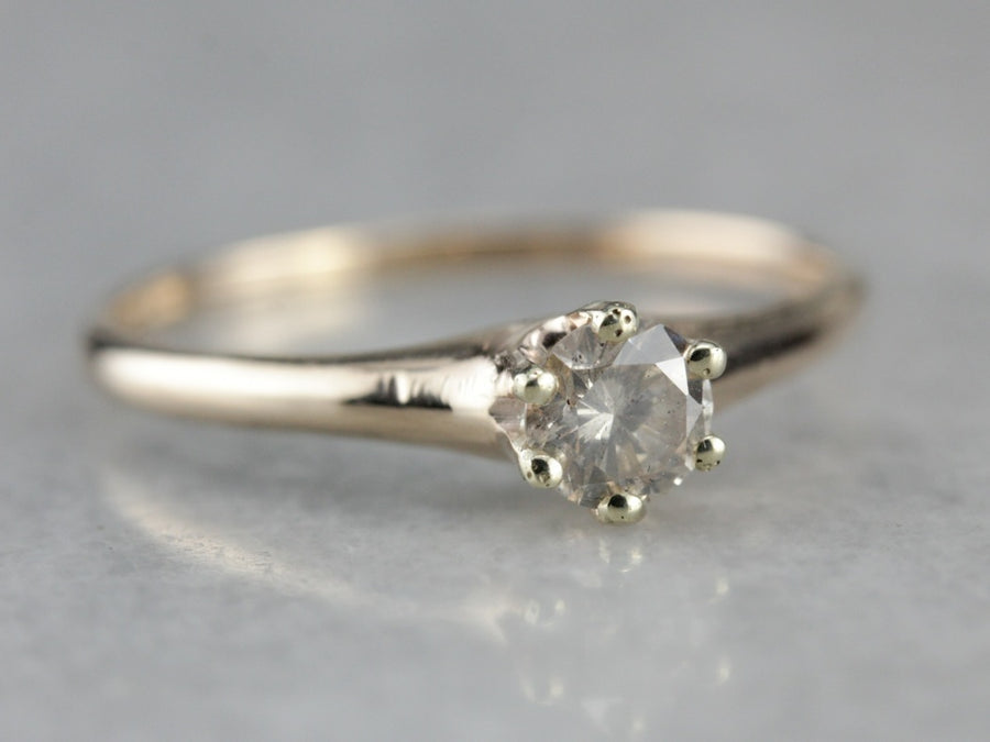 Antique Champagne Diamond Engagement Ring