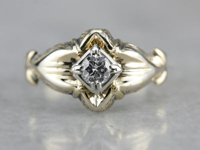 Upcycled Diamond Solitaire Ring