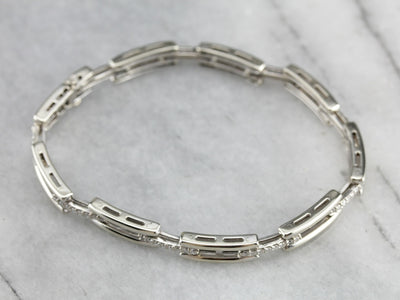 White Gold Diamond Link Bracelet