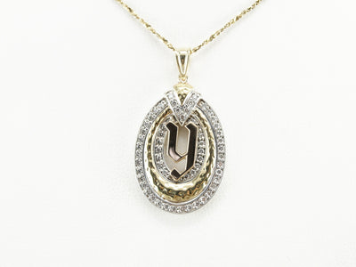 Diamond Monogramed Pendant