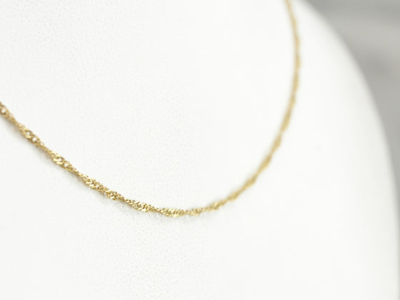 Vintage Yellow Gold Twist Chain