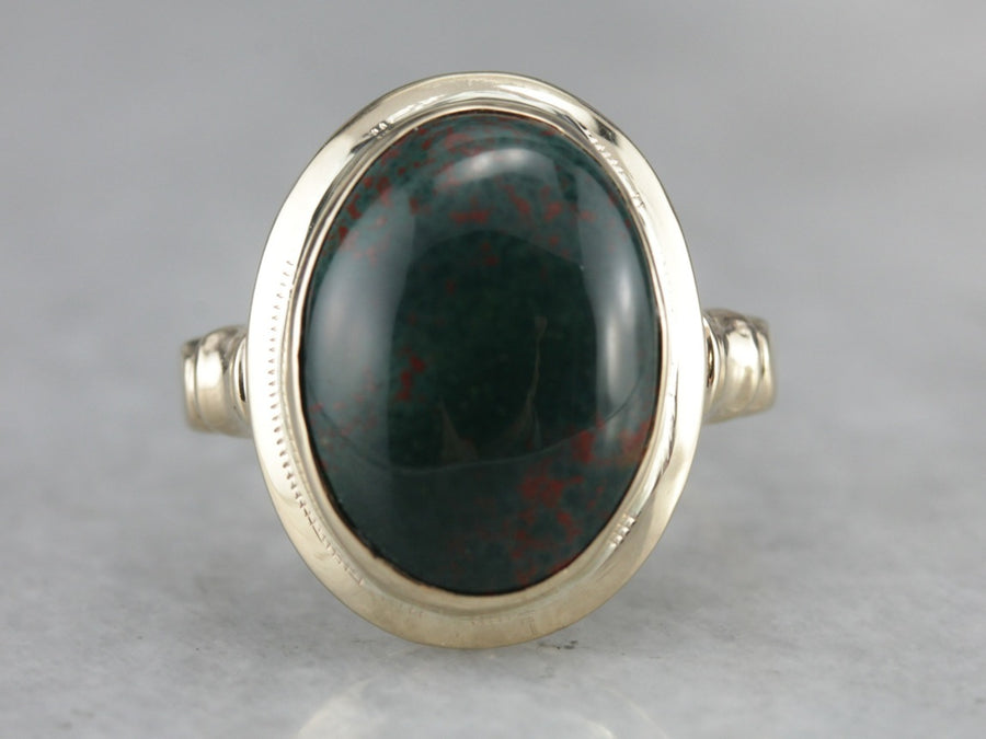 Vintage Bloodstone Ring in Yellow Gold