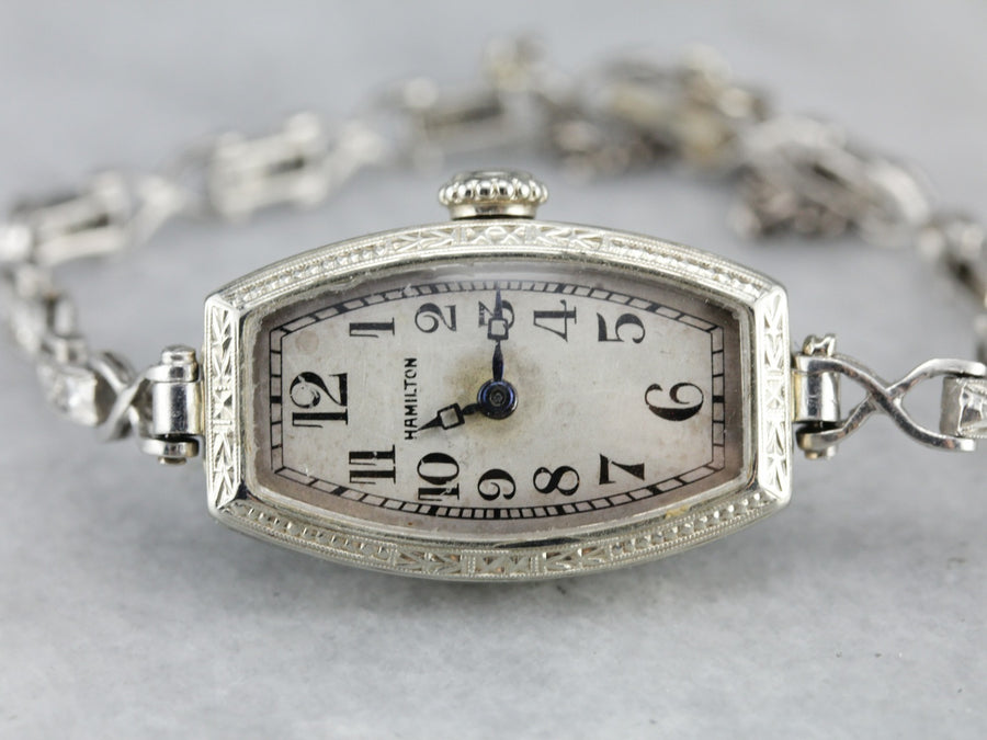 Art Deco Hamilton Diamond Wrist Watch