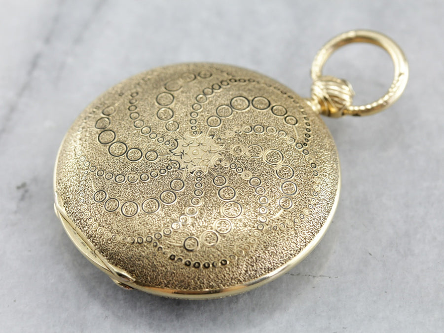 Rare Antique Charles E Jacot Pocket Watch