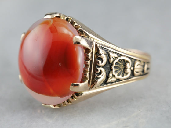 Victorian Agate Statement Ring