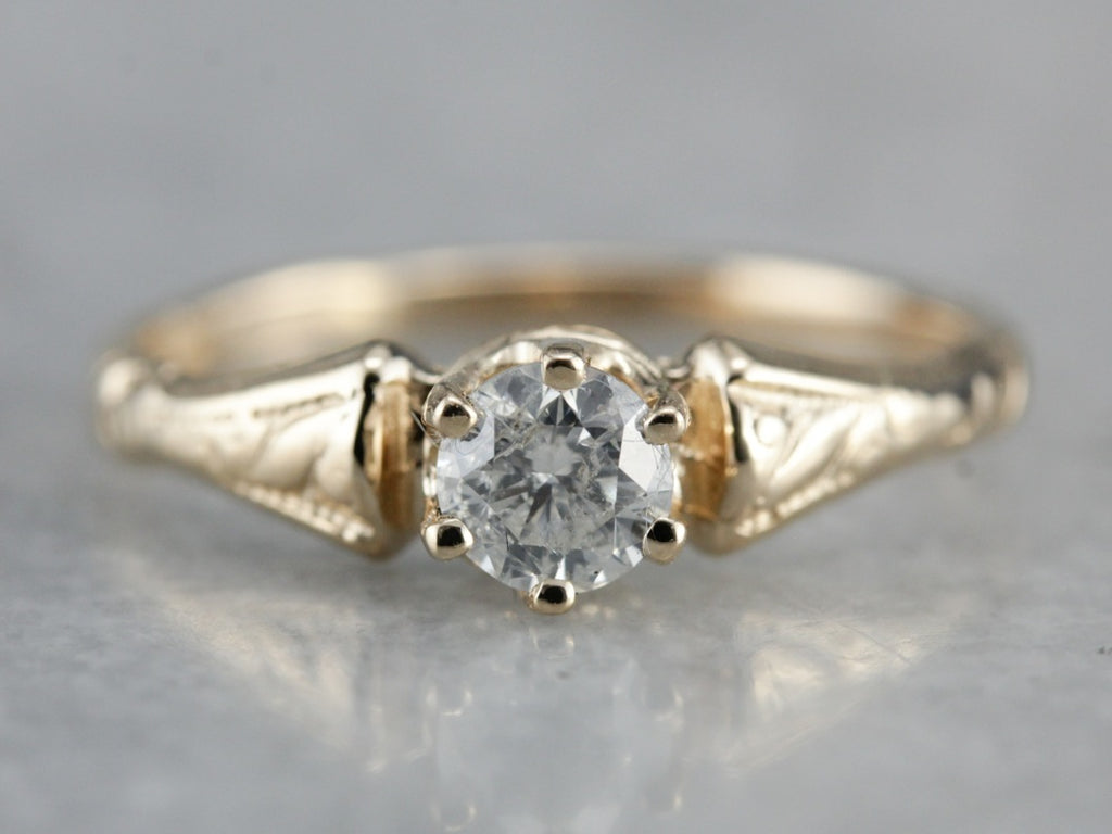 Victorian Diamond Engagement Ring