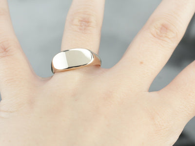 Antique East West Gold Signet Ring