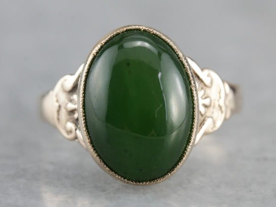 Victorian Jade Statement Ring