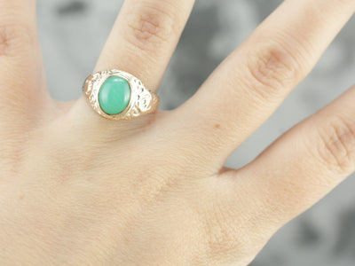Antique Chrysoprase Ring
