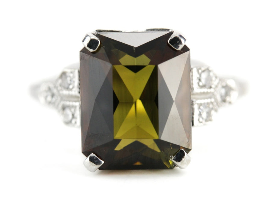 The Clara Dravite Tourmaline Cocktail Ring from The Elizabeth Henry Collection