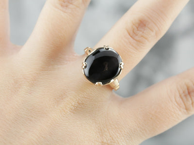 Retro Kornerupine Cat's Eye Ring