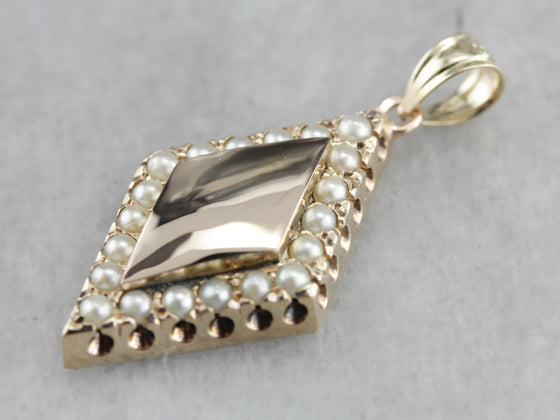 Antique Seed Pearl Pendant