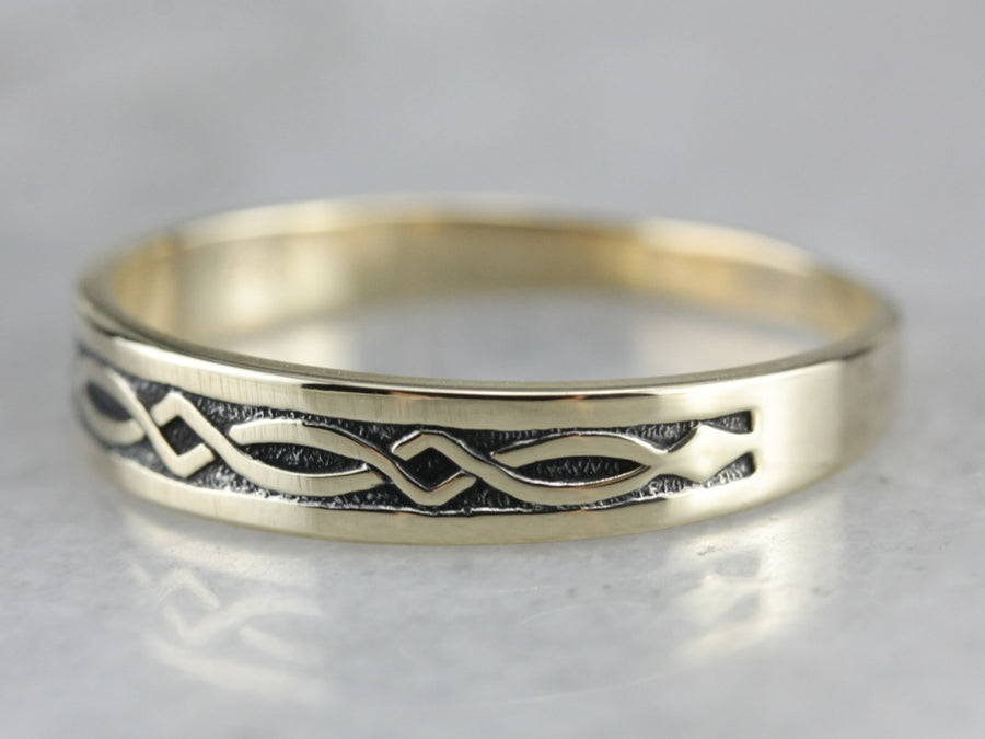 Vintage Celtic Pattern Band