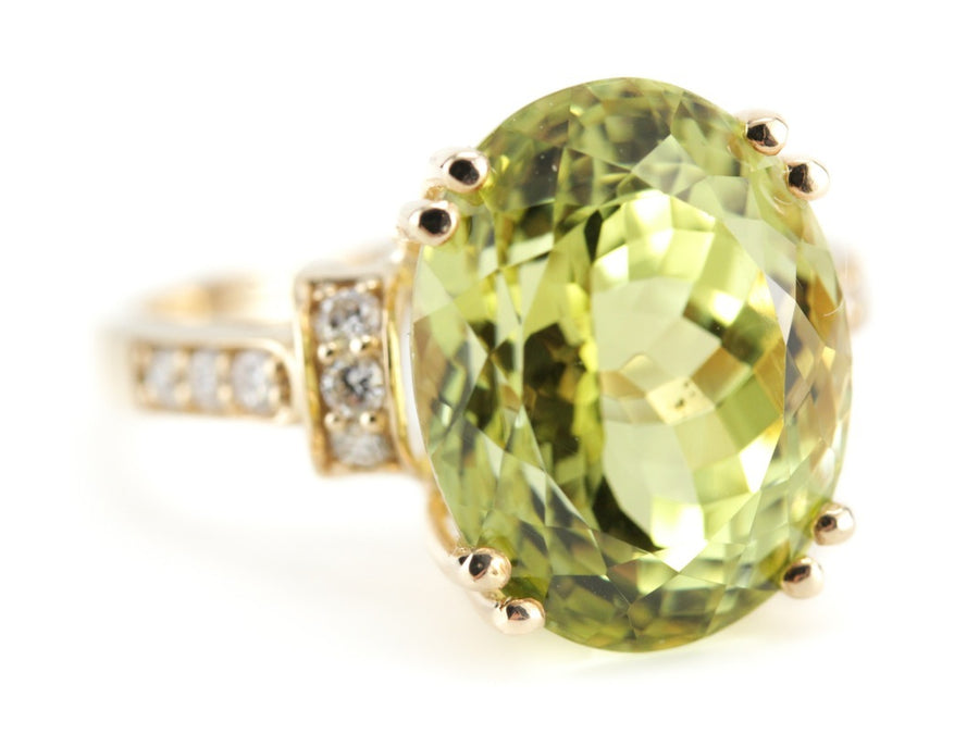 The Edie Sillimanite and Diamond Cocktail Ring by Elizabeth Henry