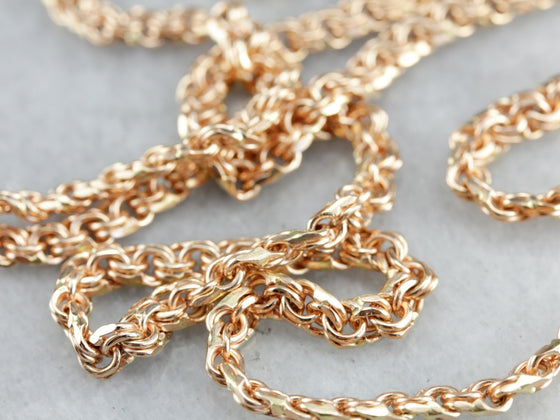 Antique Rose Gold Chain
