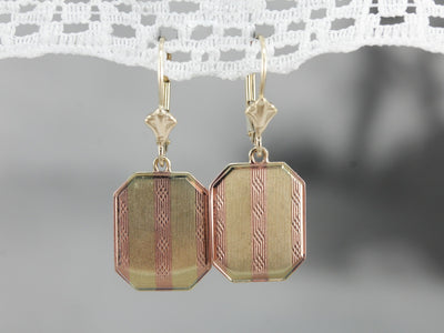 Retrofitted Drop Cufflink Earrings