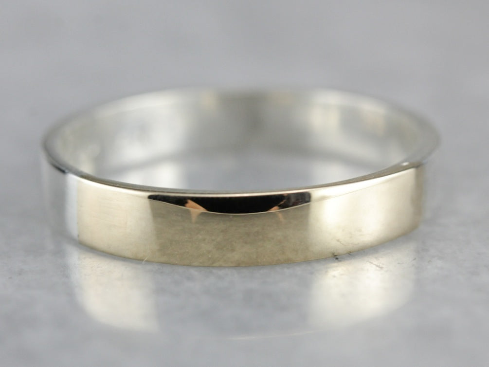 Unisex Silver and Gold Band