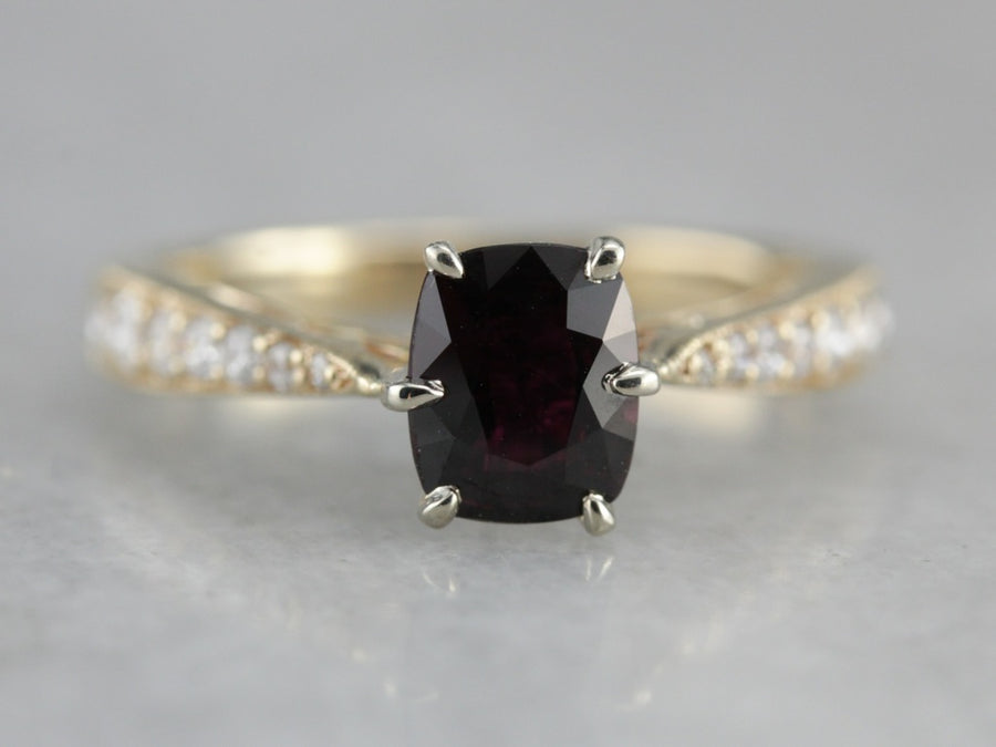 Fine Ruby Engagement Ring