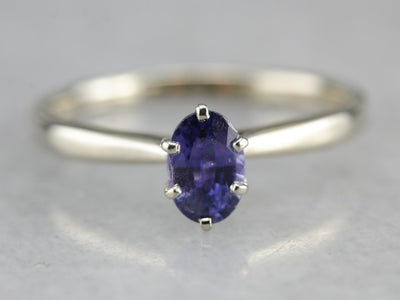White Gold Sapphire Engagement Ring