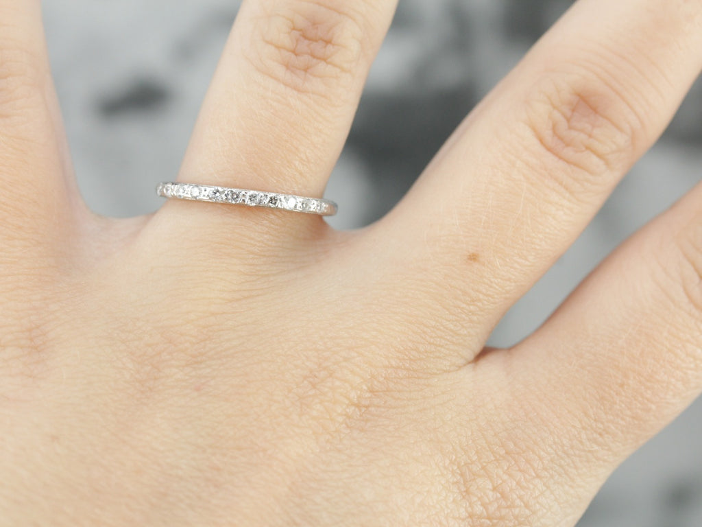 Diamond Wedding Band in White Gold