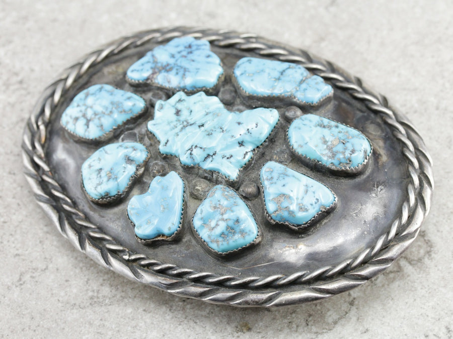 Native American Turquoise Belt Buckle