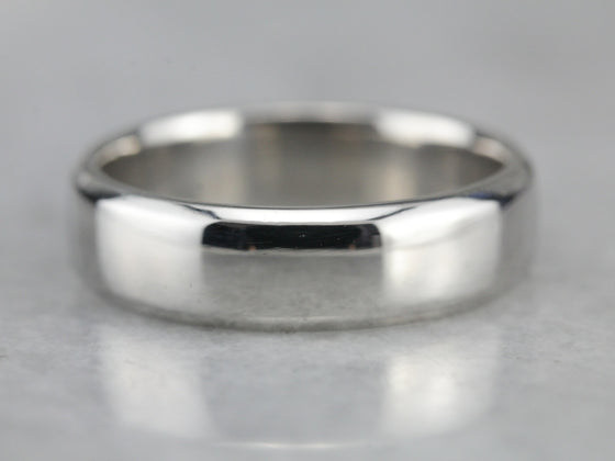 Unisex Palladium Wedding Band
