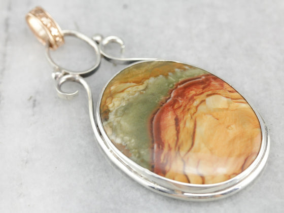 Picture Jasper Statement Pendant